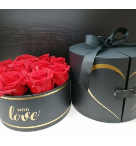 Box Cilindro con 11 rose rosse Eternity